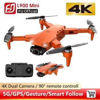 Zangão l900 pro 5g gps 4k dron com câmera hd fpv 28min tempo de vôo sem escova do motor quadcopter distância 1.2km profissional drones 1