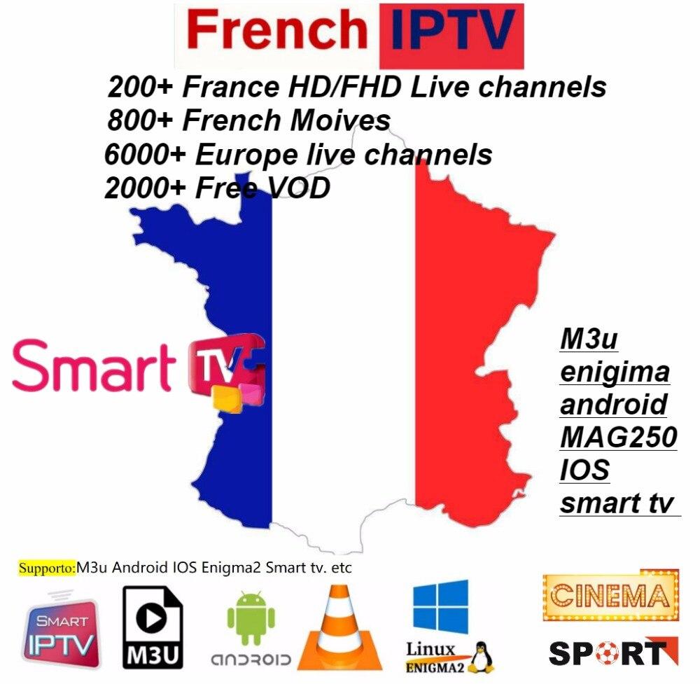Europe IPTV allemagne IPTV français IPTV 2000 + Support VOD gratuit en direct Android m3u enigma2 mag250 TVIP 2000 + Vod