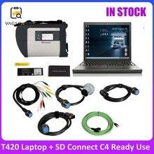 MB SD Connect Star scanner MB Star Plus T420, ordinateur portable, système I5, Version C4, V2021.03