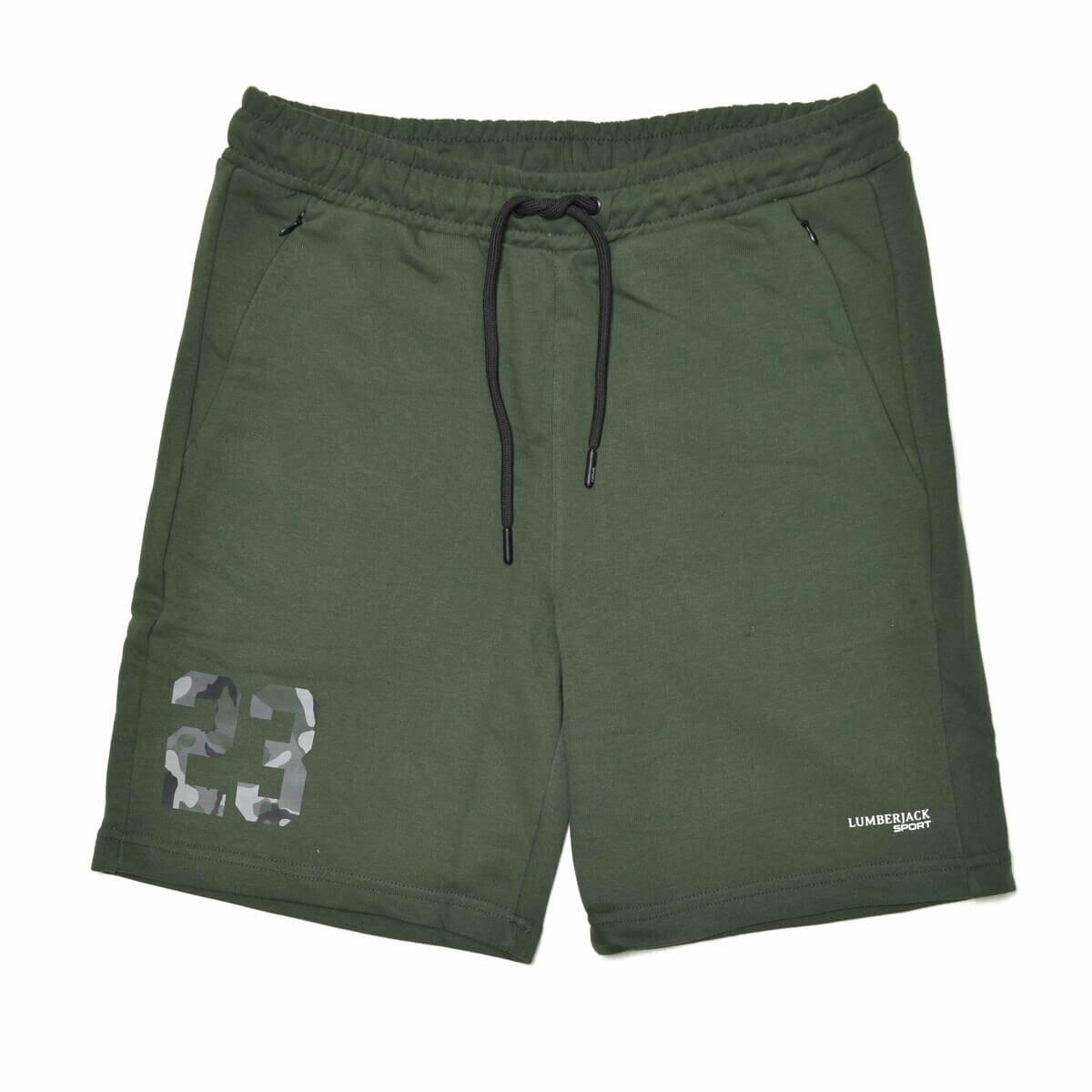 FLO BLACK SHORT Khaki Male Shorts LUMBERJACK