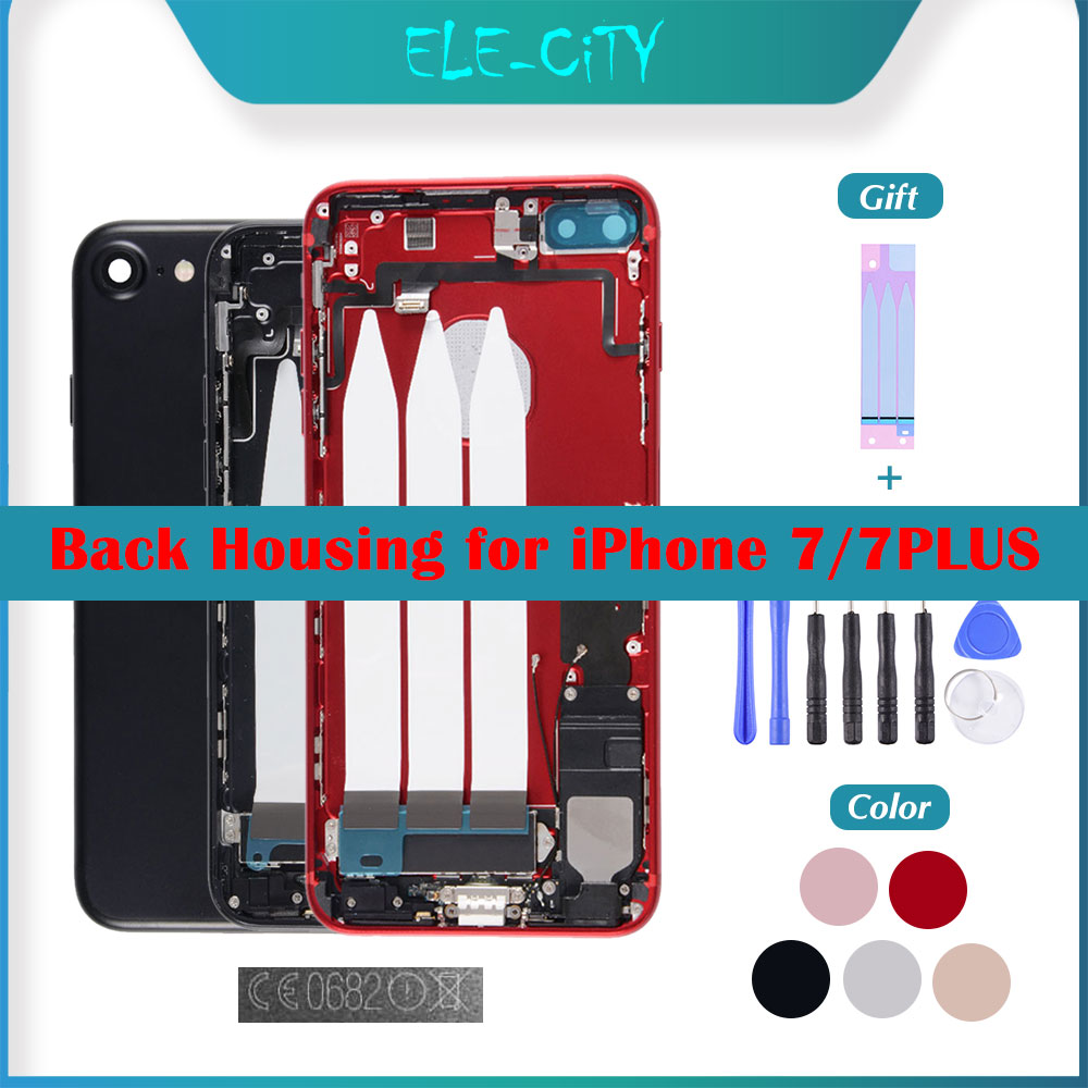 OEM Back Cover Housing For IPhone 7 7 Plus Middle Frame Chassis With Full Assembly Battery Cover With 'LOGO' EU Version