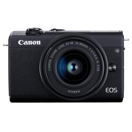 Canon EOS M200 Mirrorless Digital Camera with 15-45mm Lens - Black image
