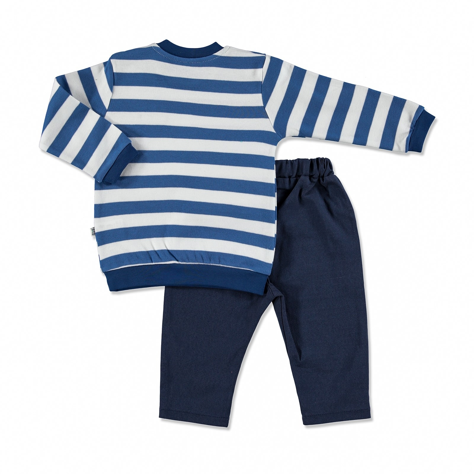 Ebebek Mymio Summer Baby Boy Scoop Interlock Sweatshirt Pant 2 Pcs Set