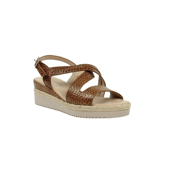 Comfortable sandal wedge camel.419