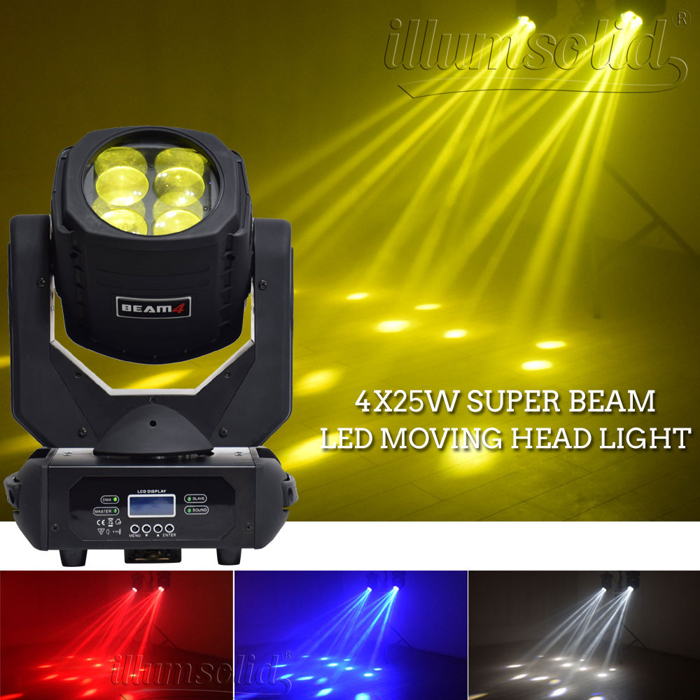 Image 2 - Dmx party lights super beam 4x25w led moving head light Stage professional lighting 2pcs/lotStage Lighting Effect   -