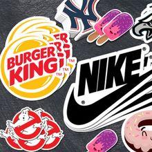 Изготовленные на заказ дизайнерские высечки наклейки для логотипа бренда название компании с высококачественной печатью сильный клей для рекламного использования
