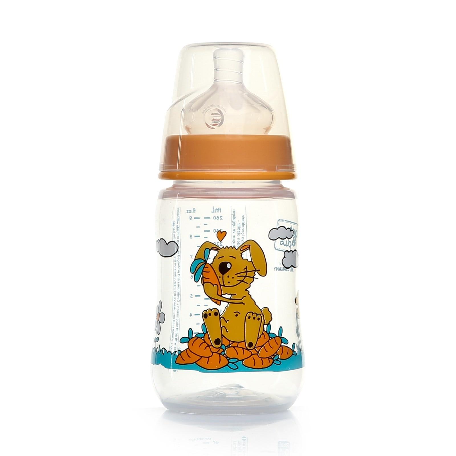 Ebebek Baby&plus Wide-Neck PP Bottle 260 Ml