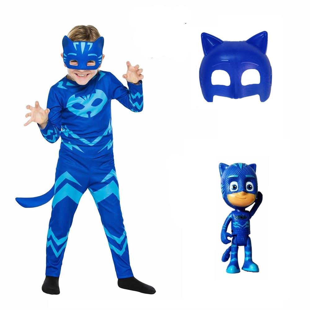 Костюмы героев мультфильма «Герои в масках», костюм с 2 маски и набор игрушек для костюмированной вечеринки, одежда косплей костюм детские к...