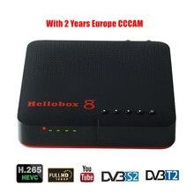 Hellobox 8 استقبال الأقمار الصناعية الرقمية H.265 كامل HD 1080P DVB C DVB S2 كومبو Cccam استقبال دعم التلفزيون اللعب على الهاتف DVB T2