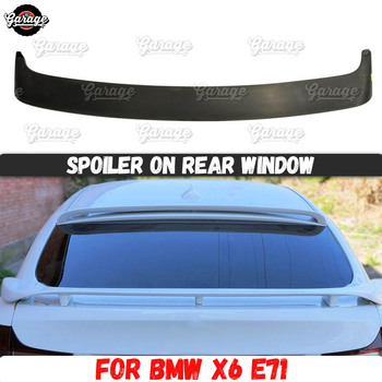 Spoiler on rear window case for BMW X6 E71 2008-2014 ABS plastic canopy aero wing molding decoration accessories car tuning image