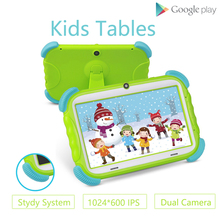 цена на ZONKO Portable 7 inch Tablet PC Android 8.1 Kids Tablet Painting Quad Core Dual Cameras 1GB RAM 16GB ROM Wifi Children Gift