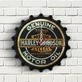 Personalisierte Harley Davidson Design Holz Wanduhr-in Wanduhren aus Heim und Garten bei