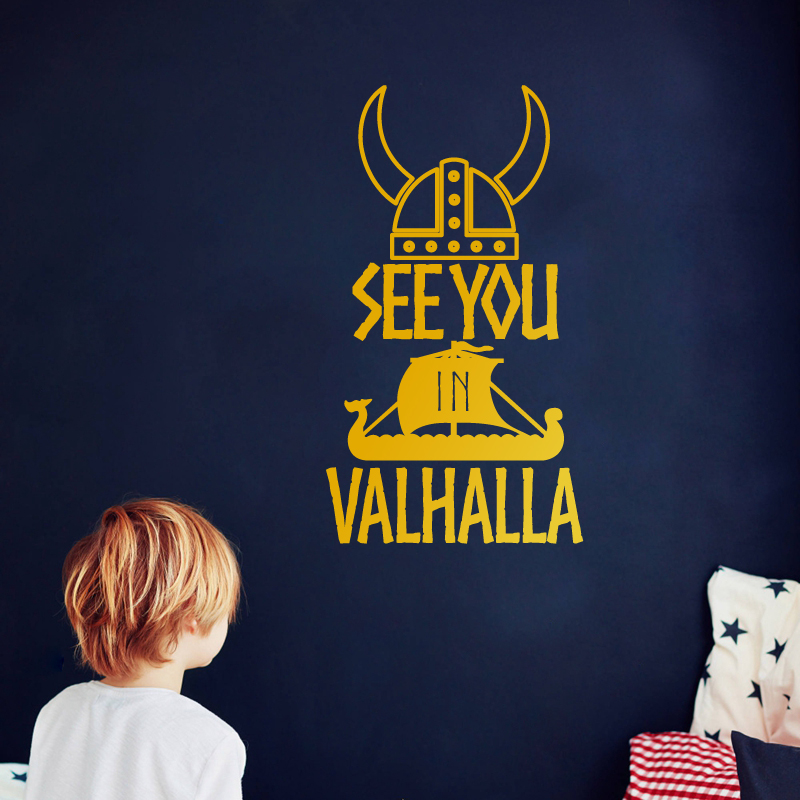 See You In Valhalla Car Decals Kids Boys Room Wall Decor