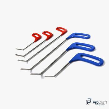 ProCraft безболезненные Инструменты для ремонта вмятин закругленные наконечники Лезвия Мини скоба прямые инструменты с одним изгибом 45 ° PDR ин