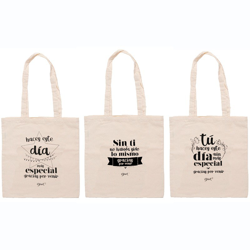 Bag Jute Phrases Thank You For Coming Assortment-Details And Gifts For Weddings, Baptisms, Communions, Birthday And Parties.