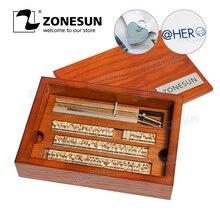 ZONESUN 6 mmsello de cuero de latón personalizado DIY letras del alfabeto del Metal números sello de símbolo para el estampado de la herramienta de fabricación de molde de hierro