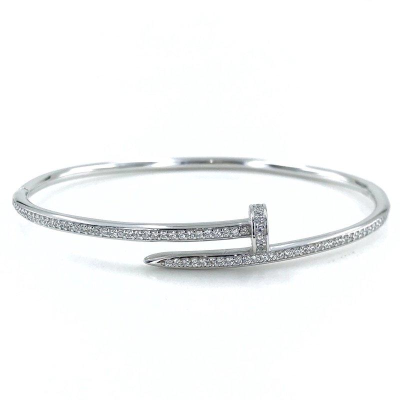 Diamond Workmanship Special Quality Nail Bracelet Silver Bracelet