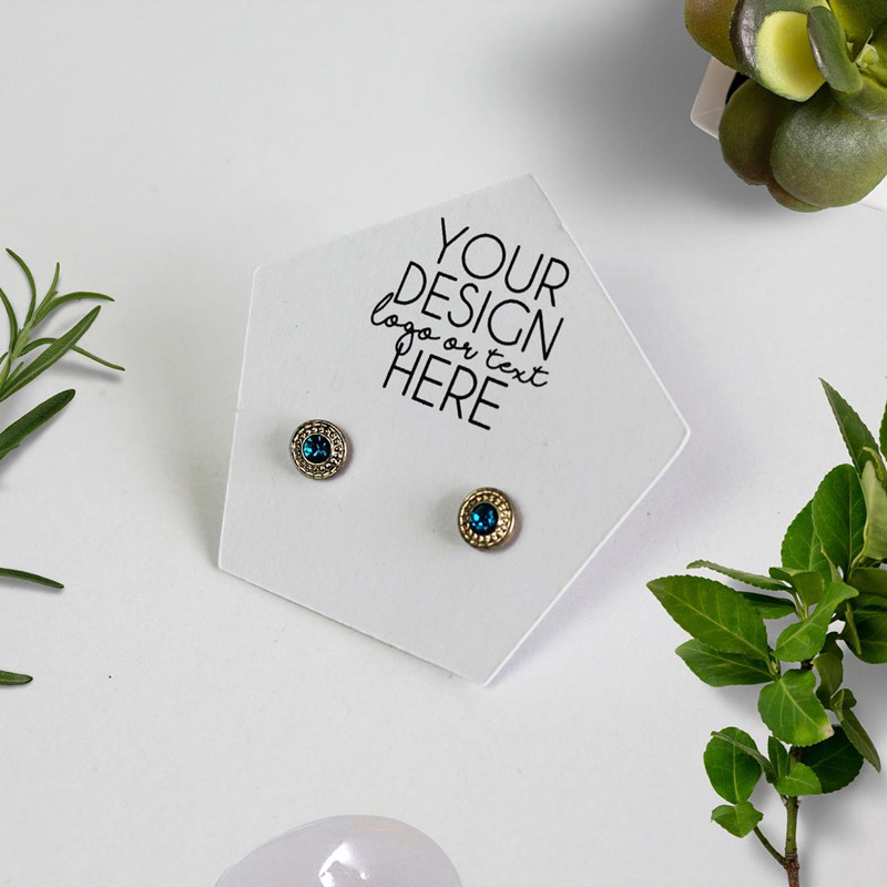Custom Earring Cards  2 inches by 2 inches Circle Display Card Personalized Earring Card Jewelry Display