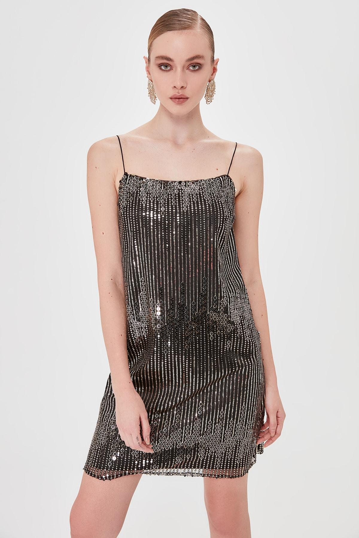 Trendyol Sequined Dress TPRSS20EL0204