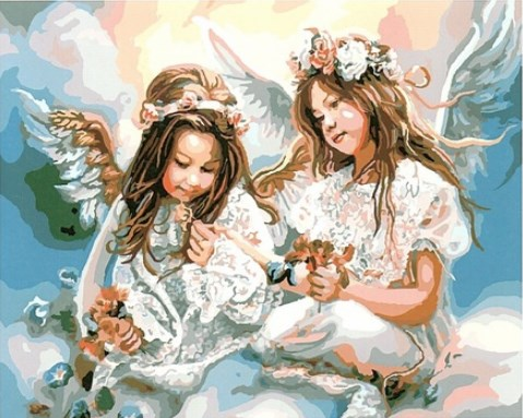 Painting By Numbers GX 8963 Girl Angels 40*50