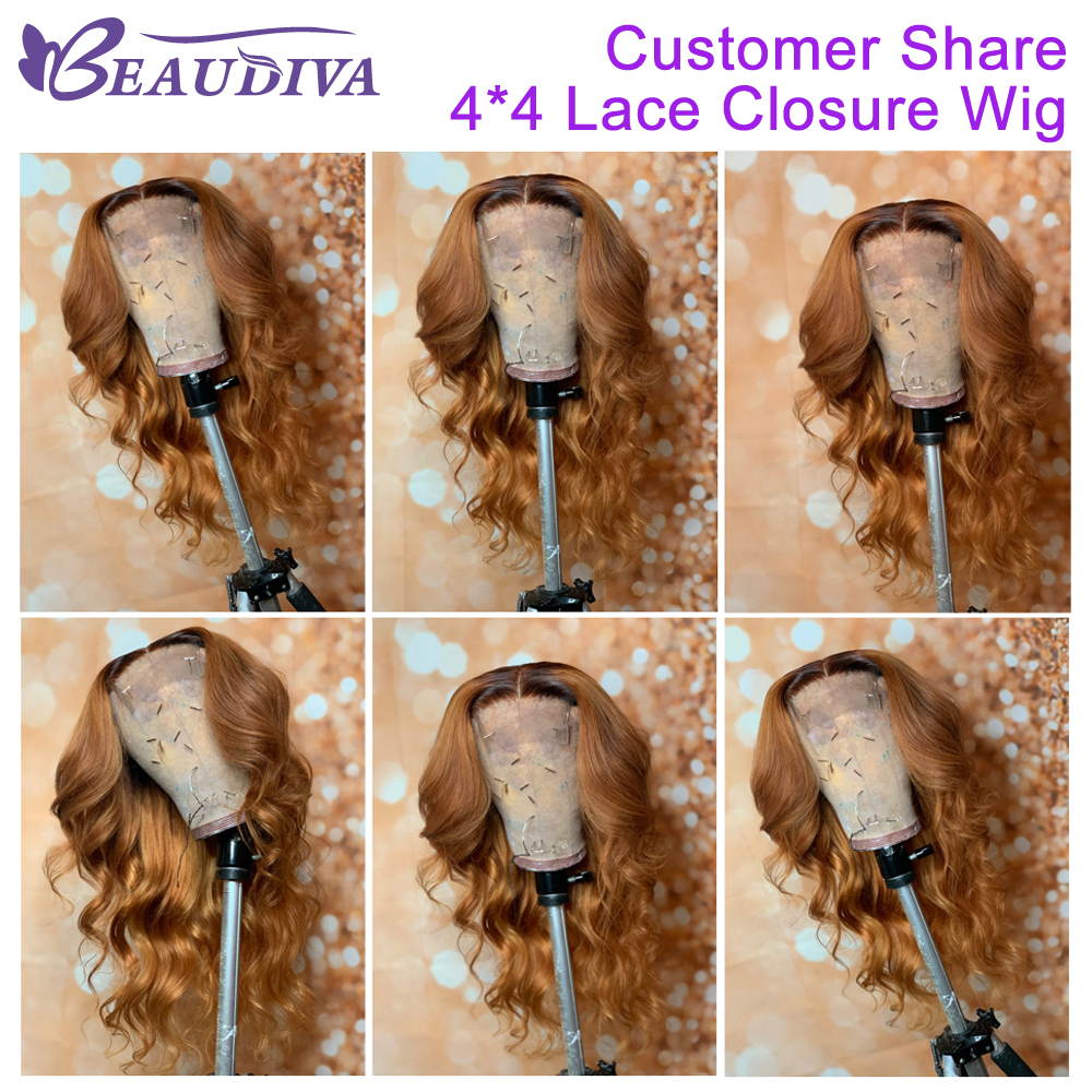 Image 4 - Body Wave Human Hair Wigs For Women Pre Plucked Brazilian Body Wave Middle Part 4*4 Lace Closure Wig Bleached Knots Baby Hair-in Lace Front Wigs from Hair Extensions & Wigs