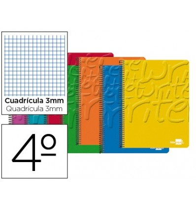 SPIRAL NOTEBOOK LEADERPAPER ROOM WRITE SOFTCOVER 80H 60 GR TABLE 3MM CONMARGEN ASSORTED COLORS 10 Pcs