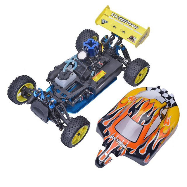 Free shipping HSP Baja 1/10 ratio nitro power off-road vehicle 4WD RC car 94166 and 18cxp engine speed 60-80KM/H 4