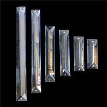 Hanging Crystal Chandelier-Prism Lighting-Parts Lamp-Decor Glass Drop-Pendant Rectangle