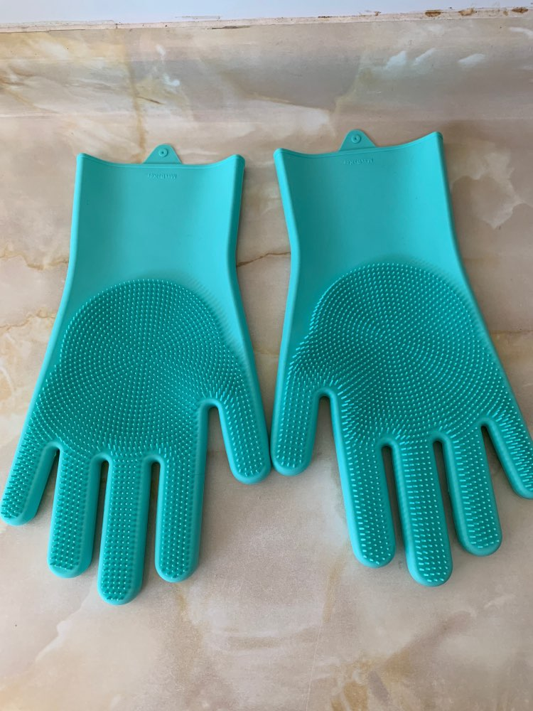 Silicone Multi-Purpose Cleaning Gloves photo review