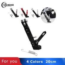Vehemo 20 СМ ЧПУ для мотоцикла фиксатор для ног парковочная подставка модифицированный черный аксессуары для мотоциклов боковая подставка рамы