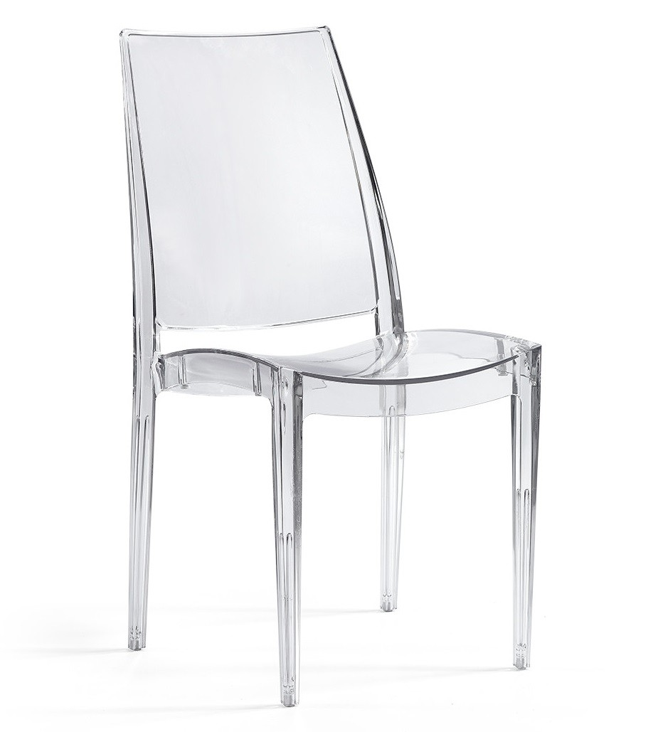 Chair GLASS, Clear Polycarbonate