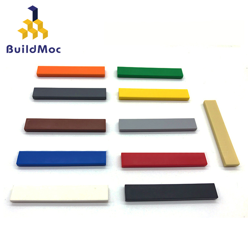 100pcs DIY Building Blocks Figure Bricks Smooth 1x6 11Colors Educational Creative Size Compatible With Lego Toys For Children