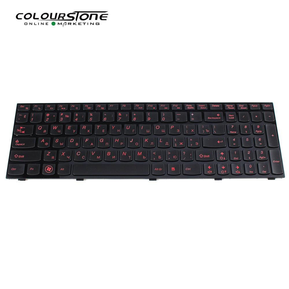 Hot Selling For LENOVO Y500 Y510 Russian  Black With Backlit Laptop Keyboard