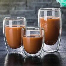 1 шт., стеклянная чашка с двойными стенками, пивные стеклянные кофейные чашки, набор, термостойкая, ручная работа, креативная пивная кружка, чай, виски, бокал шампанского