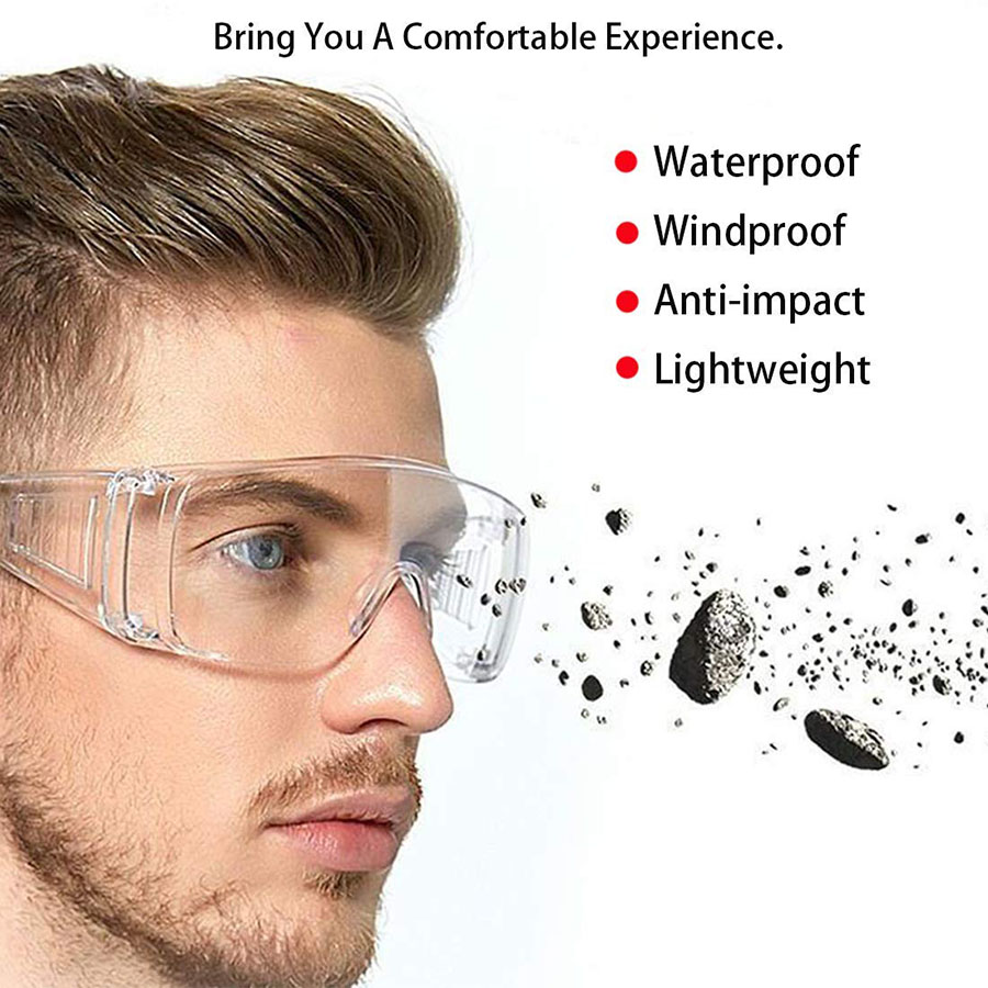 10PCS Transparent Safety Goggles Anit-Splash Protective Glasses Dust-Proof Sand Work Lab Dental Eyewear Spectacles Protection