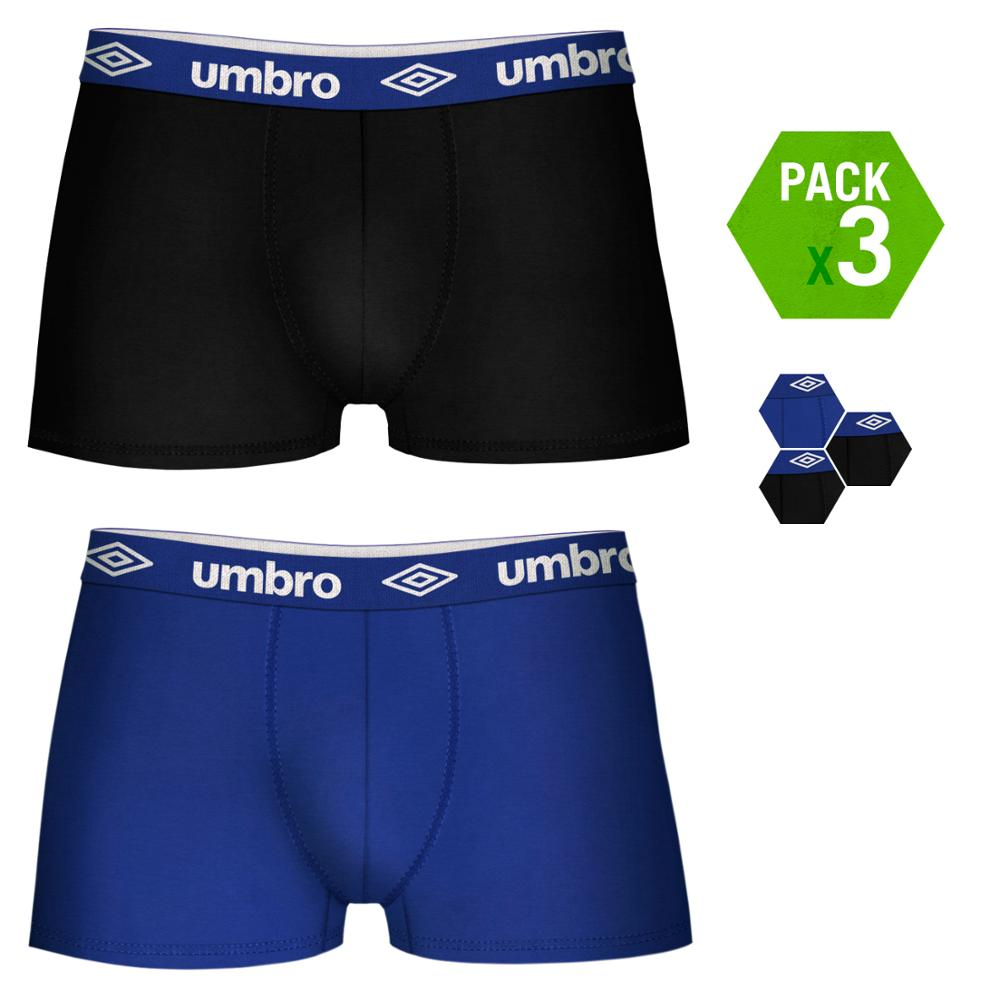 UMBRO Boxers Type Boxer Pack 3 Units In Color Black And Dark Blue For Men