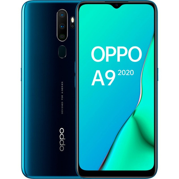 Перейти на Алиэкспресс и купить Телефоны Oppo A9 (2020), зеленый цвет (зеленый), 128 Гб встроенной памяти 4 Гб оперативной памяти, hd-экран + 6,5 дюйма, две sim-карты.