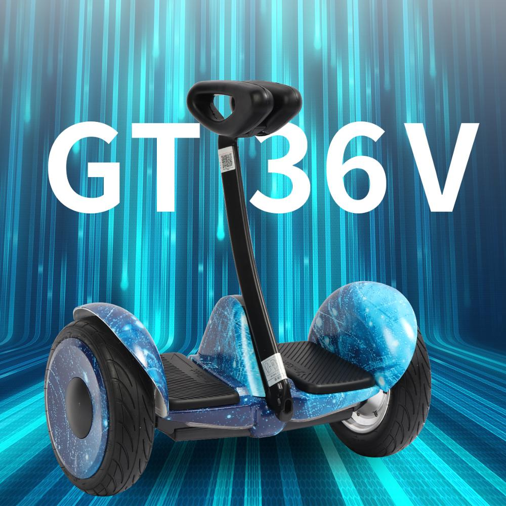 Сигвей Mini Robot 36V GT GyroScooter Hoverboard GT inch with bluetooth two wheels smart self balancing scooter 36V 700W Strong