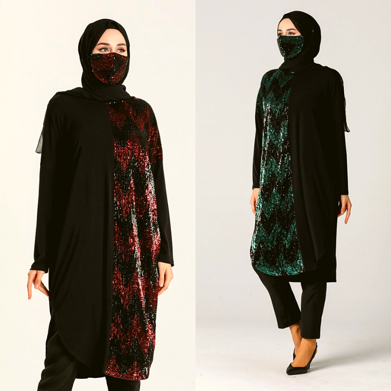 2 pieces Abayas Muslim Dress Women Abaya Dubai Hijab Dress мусульманская одежда Ensemble Femme Musulmane islamic Gift العبايات 6