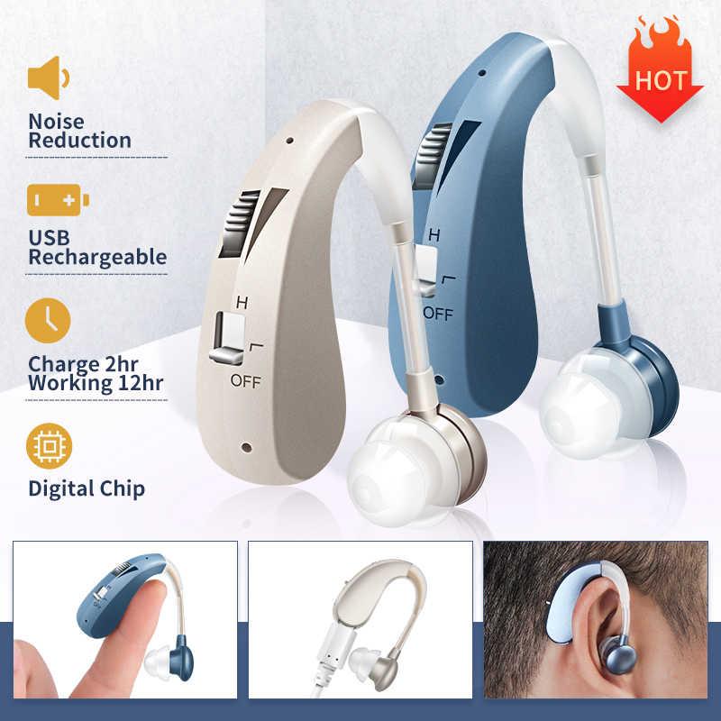 202S Isi Ulang Alat Bantu Dengar Digital Sound Amplifier Alat Bantu Dengar Hearing Perangkat DropShipping Alat Bantu Dengar Terbaik