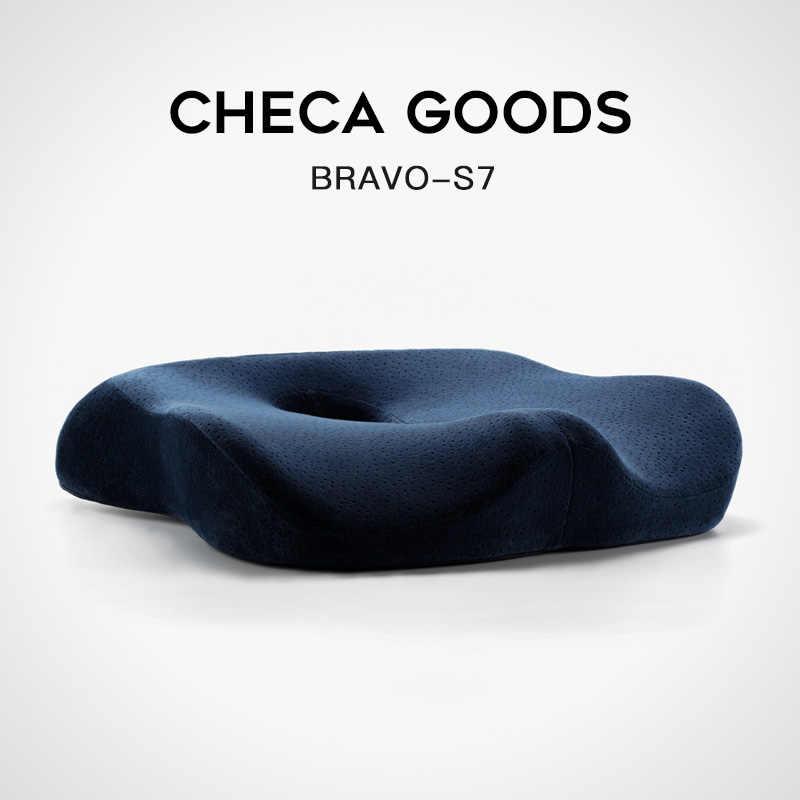 Poduszka siedziska CHECA GOODS Premium Comfort-antypoślizgowa poduszka ortopedyczna 100% z pianki Memory Coccyx na krzesło fotel samochodowy