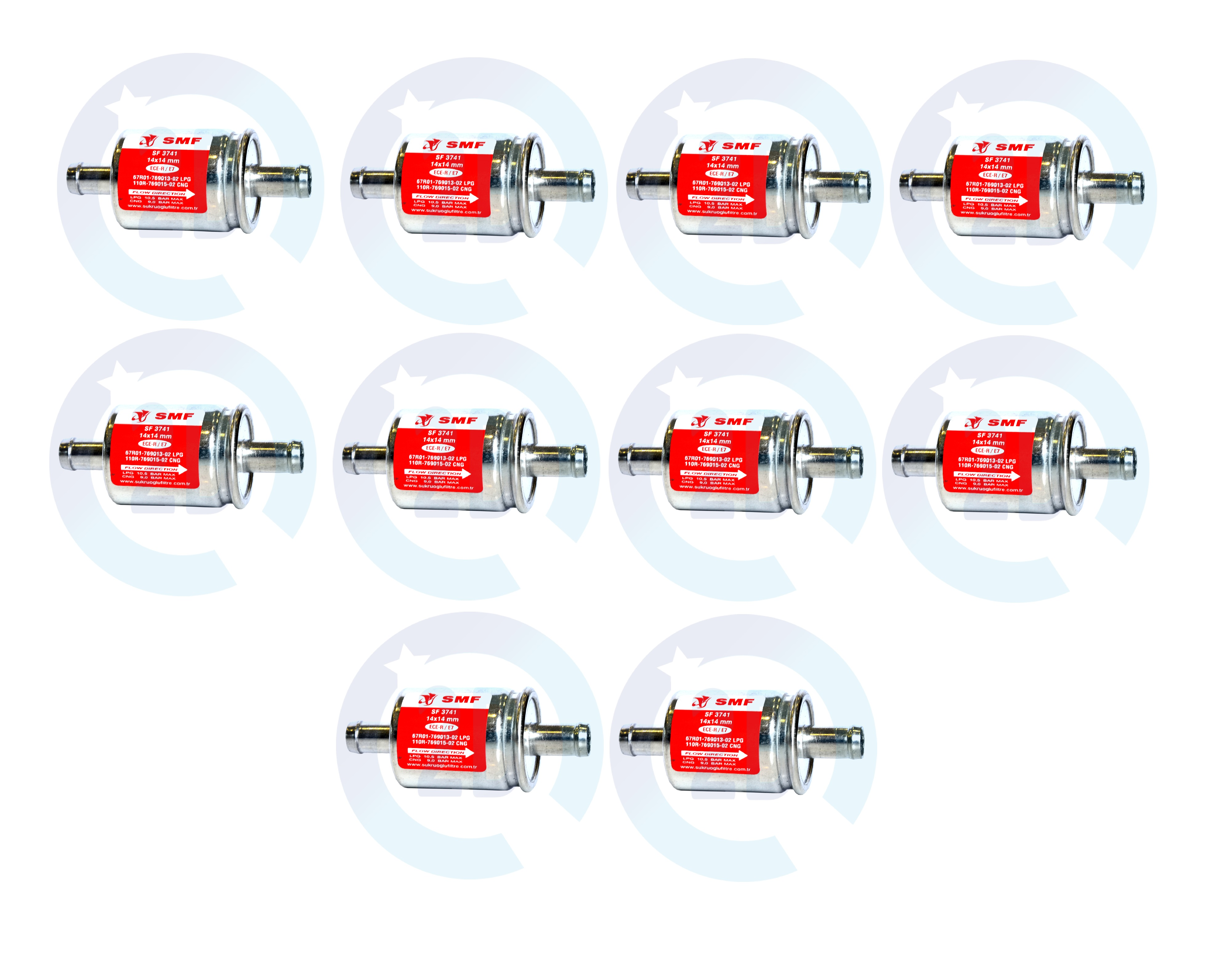 LPG 3 x Gasfilter 16mm Autogas GPL Filter Universell