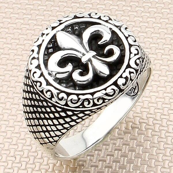 Bijoux turcs 925 bague en argent Sterling véritable pierre gemme hommes anneaux hommes bijoux anneaux pour hommes anneaux femmes hommes anneaux hommes anneau