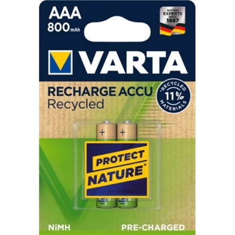 RECHARGEABLE Battery LR03 AAA 800MA VARTA 2 PZ