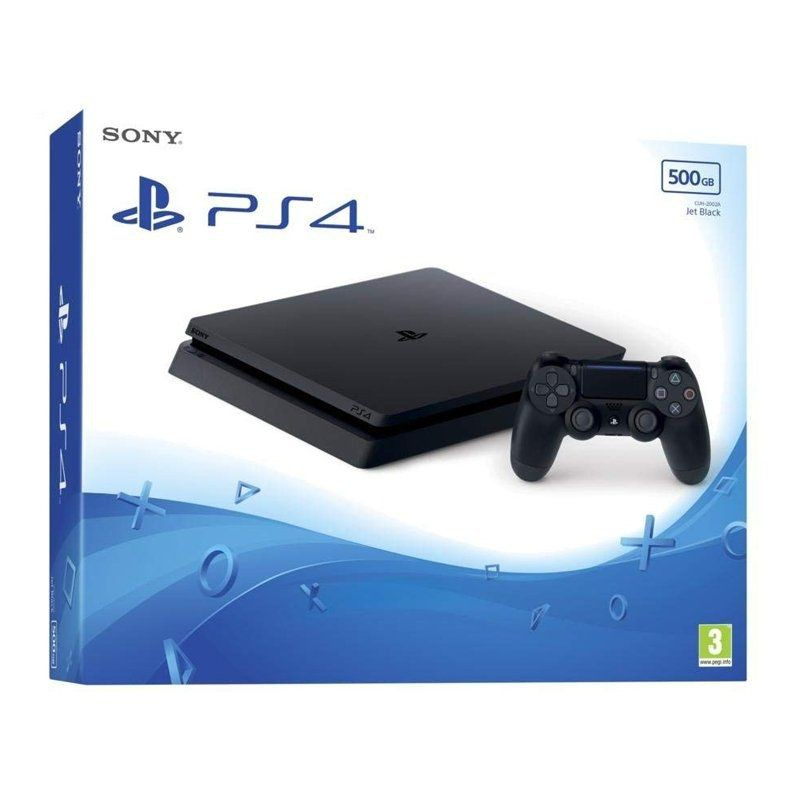 Sony playstation 4 console dünne 500gb-dualshock 4 wireless controller-hdmi kabel-usb kabel-kopfhörer-power kabel