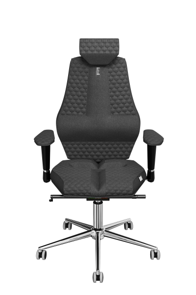 Office Chair KULIK SYSTEM Nano Gray Computer Chair Relief And Comfort For The Back 5 Zones Control Spine