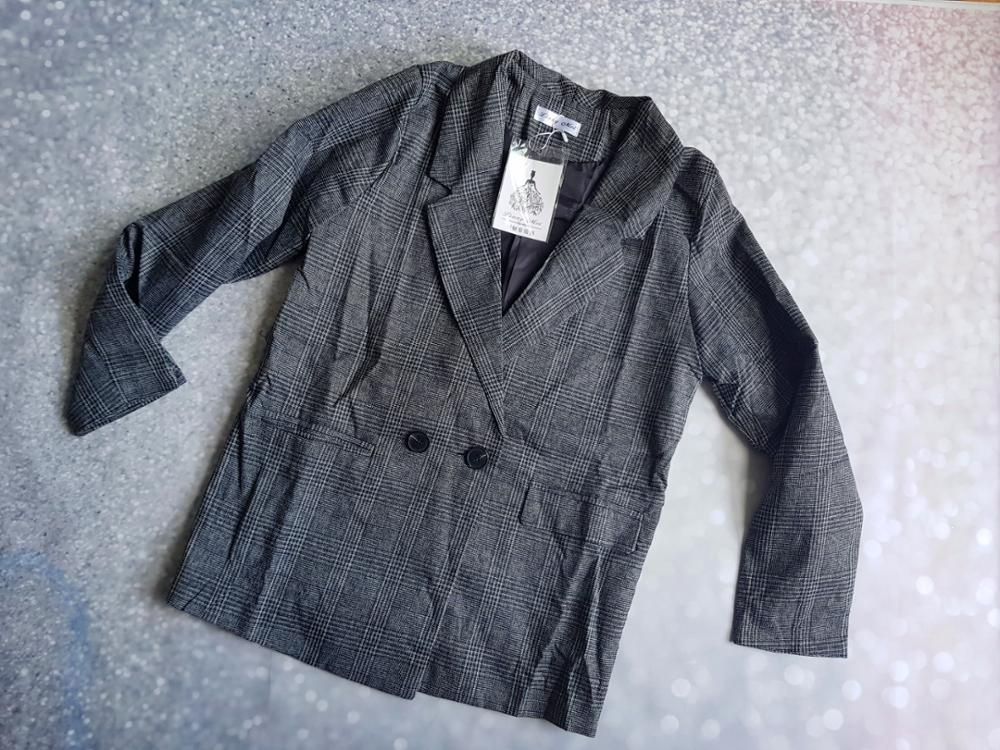 CBAFU autumn spring jacket women suit coats plaid outwear casual turn down collar office wear work runway jackets blazer N785 reviews №8 88690