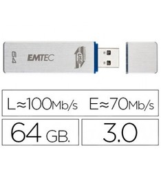 USB MEMORY EMTEC FLASHLIGHT 64 GB 30 100 MB/S