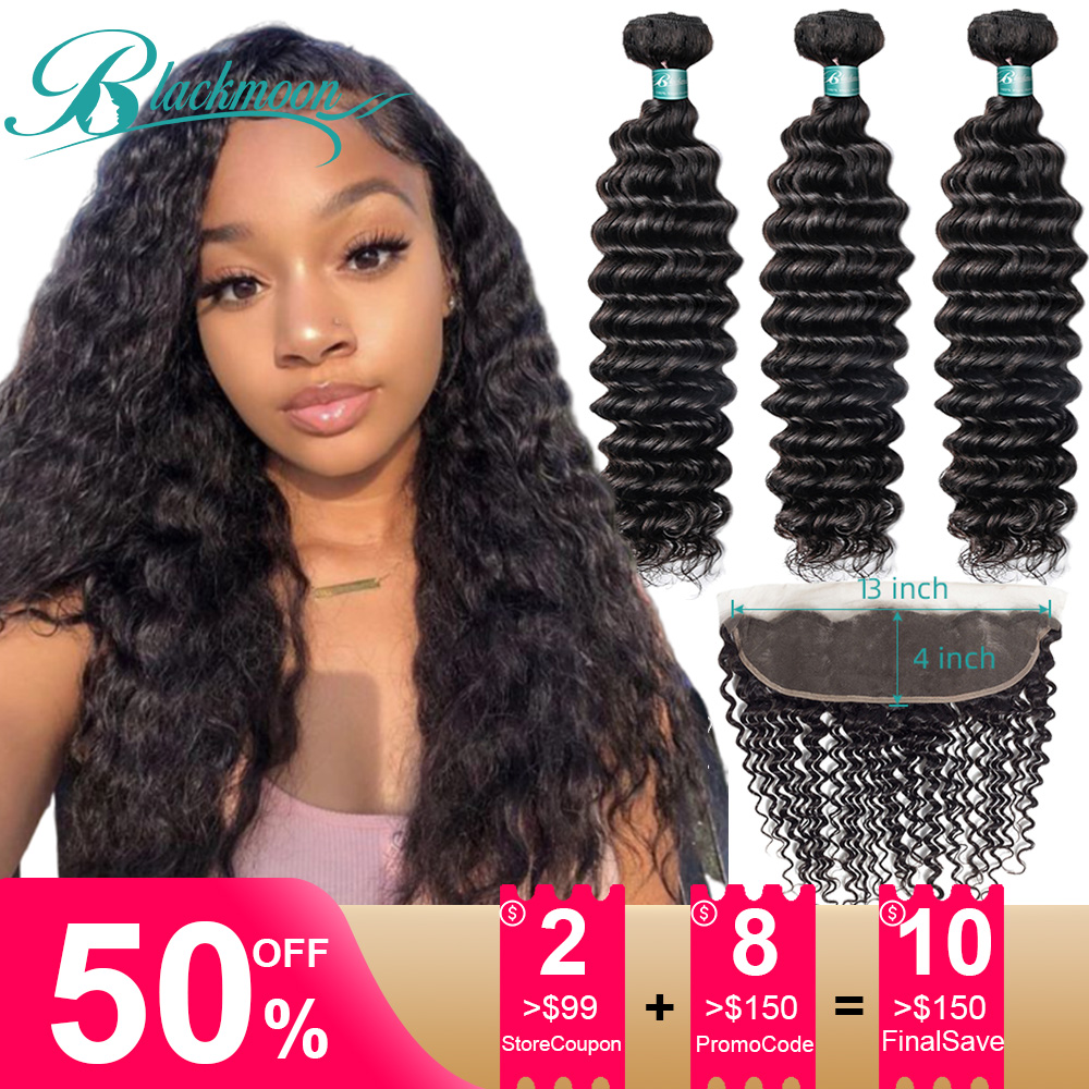Brazilian Hair Weave Bundles With Frontal Deep Wave Bundles With Closure Frontal Human Hair Bundles With Closure Frontal Natural