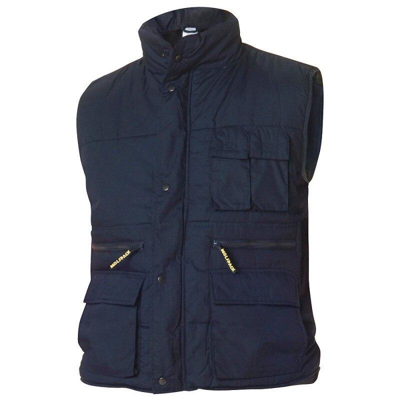 Work Vest Multi-Pocket Blue L